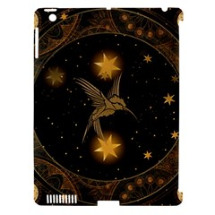 Wonderful Hummingbird With Stars Apple Ipad 3/4 Hardshell Case (compatible With Smart Cover) by FantasyWorld7