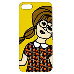 Girl With Popsicle Yellow Background Apple Iphone 5 Hardshell Case With Stand by snowwhitegirl