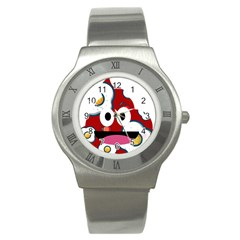 Egg Poo Stainless Steel Watch by snowwhitegirl