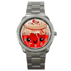 Kawaii Jam Jar Sport Metal Watch by snowwhitegirl