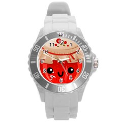 Kawaii Jam Jar Round Plastic Sport Watch (l) by snowwhitegirl