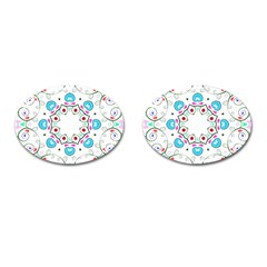 Paisley Design 2 Embroidery Cufflinks (oval) by snowwhitegirl