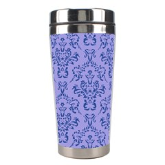 Victorian Blue Ornamental Stainless Steel Travel Tumblers by snowwhitegirl