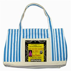 Ronald Story Vaccine Mrtacpans Striped Blue Tote Bag