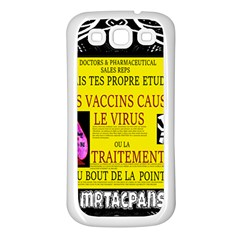 Ronald Story Vaccine Mrtacpans Samsung Galaxy S3 Back Case (white)