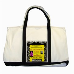 Ronald Story Vaccine Mrtacpans Two Tone Tote Bag