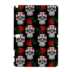 Skull Pattern Black Samsung Galaxy Note 10 1 (p600) Hardshell Case by snowwhitegirl