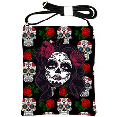 Mexican Skull Lady Shoulder Sling Bag
