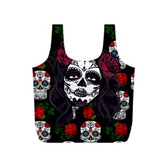 Mexican Skull Lady Full Print Recycle Bag (s) by snowwhitegirl