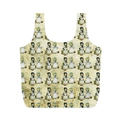 Little Victorian Girls Pattern Full Print Recycle Bag (m)