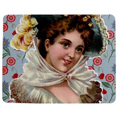 Victorian Lady Blue Floral Jigsaw Puzzle Photo Stand (rectangular) by snowwhitegirl