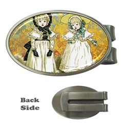 Little Victorian Girls Money Clips (oval)