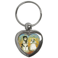 Little Victorian Girls Key Chains (heart)  by snowwhitegirl