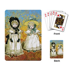 Little Victorian Girls Playing Cards Single Design