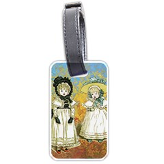 Little Victorian Girls Luggage Tags (two Sides) by snowwhitegirl
