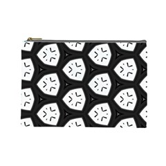 Black And White Cosmetic Bag (large)