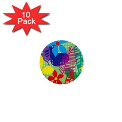 Decoration Decor Pattern 1  Mini Buttons (10 Pack)