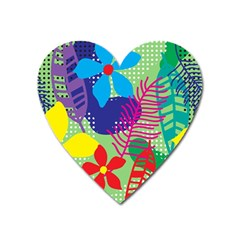 Decoration Decor Pattern Heart Magnet by Simbadda