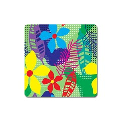 Decoration Decor Pattern Square Magnet by Simbadda