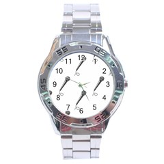Microphone Realistic Karaoke Stainless Steel Analogue Watch