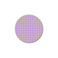 Pastel Mod Purple Yellow Circles Golf Ball Marker (10 Pack) by BrightVibesDesign