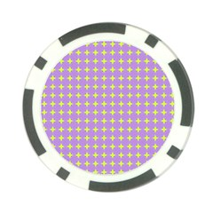 Pastel Mod Purple Yellow Circles Poker Chip Card Guard (10 Pack) by BrightVibesDesign