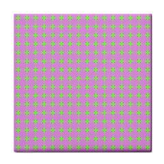 Pastel Mod Pink Green Circles Tile Coasters by BrightVibesDesign