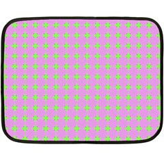 Pastel Mod Pink Green Circles Double Sided Fleece Blanket (mini)  by BrightVibesDesign