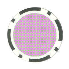 Pastel Mod Pink Green Circles Poker Chip Card Guard (10 Pack) by BrightVibesDesign