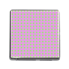 Pastel Mod Pink Green Circles Memory Card Reader (square 5 Slot)