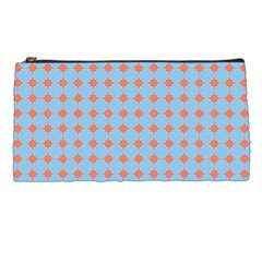 Pastel Mod Blue Orange Circles Pencil Cases by BrightVibesDesign