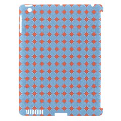 Pastel Mod Blue Orange Circles Apple Ipad 3/4 Hardshell Case (compatible With Smart Cover) by BrightVibesDesign