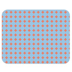 Pastel Mod Blue Orange Circles Double Sided Flano Blanket (medium)  by BrightVibesDesign