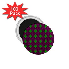 Bright Mod Pink Green Circle Pattern 1 75  Magnets (100 Pack)  by BrightVibesDesign