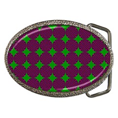 Bright Mod Pink Green Circle Pattern Belt Buckles by BrightVibesDesign