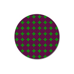 Bright Mod Pink Green Circle Pattern Magnet 3  (round) by BrightVibesDesign