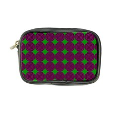 Bright Mod Pink Green Circle Pattern Coin Purse by BrightVibesDesign