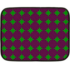 Bright Mod Pink Green Circle Pattern Double Sided Fleece Blanket (mini)  by BrightVibesDesign