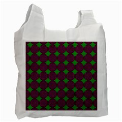 Bright Mod Pink Green Circle Pattern Recycle Bag (one Side) by BrightVibesDesign