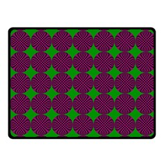 Bright Mod Pink Green Circle Pattern Fleece Blanket (small) by BrightVibesDesign