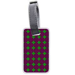 Bright Mod Pink Green Circle Pattern Luggage Tags (one Side)  by BrightVibesDesign