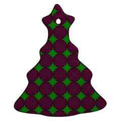 Bright Mod Pink Green Circle Pattern Ornament (christmas Tree)  by BrightVibesDesign