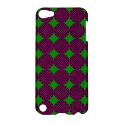 Bright Mod Pink Green Circle Pattern Apple Ipod Touch 5 Hardshell Case by BrightVibesDesign