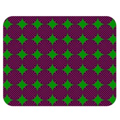 Bright Mod Pink Green Circle Pattern Double Sided Flano Blanket (medium)  by BrightVibesDesign