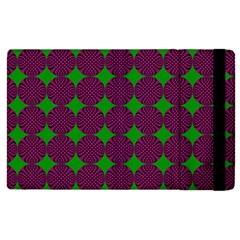 Bright Mod Pink Green Circle Pattern Apple Ipad Pro 9 7   Flip Case by BrightVibesDesign