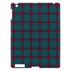 Mod Teal Red Circles Pattern Apple Ipad 3/4 Hardshell Case by BrightVibesDesign