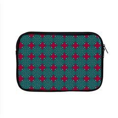 Mod Teal Red Circles Pattern Apple Macbook Pro 15  Zipper Case by BrightVibesDesign