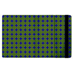 Mod Circles Green Blue Apple Ipad Pro 12 9   Flip Case by BrightVibesDesign