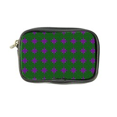 Mod Green Purple Circles Pattern Coin Purse by BrightVibesDesign