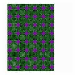 Mod Green Purple Circles Pattern Small Garden Flag (two Sides) by BrightVibesDesign